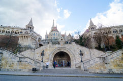 Fisherman Bastion on the Buda Castle hill in Budapest, Hungary Royalty Free Stock Photos