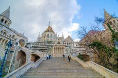 Fisherman Bastion on the Buda Castle hill in Budapest, Hungary Royalty Free Stock Photo