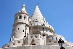 Fisherman Bastion in Budapest, Hungary Stock Images