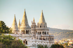 Fisherman bastion in Budapest, Hungary. In the evening Royalty Free Stock Image