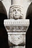 Fisherman Bastion Capital. Head figure as the capital atop the column at the Fisherman`s Bastion in Budapest, Hungary Stock Images