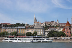 Fisherman bastion Danube riverside Royalty Free Stock Photo