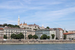 Fisherman bastion and Matthias church Budapest Stock Images