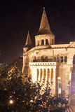 Fisherman bastion at night, Budapest, Hungary Stock Photo