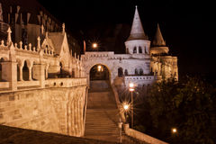 Fisherman bastion at night, Budapest, Hungary Stock Images