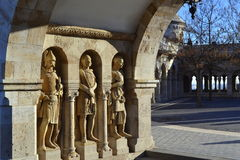 Fisherman Bastion sculptures Budapest Hungary Royalty Free Stock Images