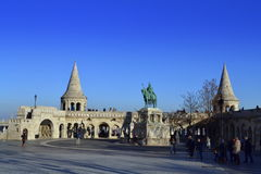 Fisherman Bastion square Budapest Hungary Stock Photos