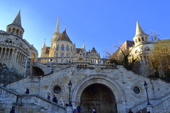 Fisherman Bastion staircase Budapest Hungary Royalty Free Stock Image