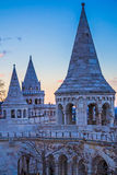 Fisherman Bastion during sunset, Budapest, Hungary Stock Photo