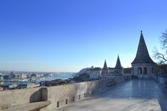 Fisherman Bastion turrets Budapest Stock Image