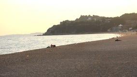 Fisherman On The Beach stock footage