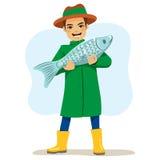 Fisherman Big Fish Royalty Free Stock Photo
