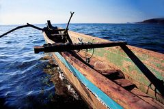 Fisherman boat. Indonesian sea, sumbawa royalty free stock photos