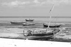 Fisherman Boat. ZANZIBAR-TANZANIA OCTOBER 21:Fisherman Boat used for snorkeling, at Nungwi Village on October 21 2011. Zanzibar Island, Tanzania. Nungwi is Stock Image