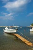 Fisherman boat. Nea Fokea, Halkidiki, Greece Stock Photo