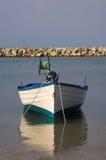 Fisherman boat. Nea Fokea, Halkidiki, Greece Royalty Free Stock Image
