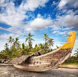 Fisherman boat on the beach Royalty Free Stock Images