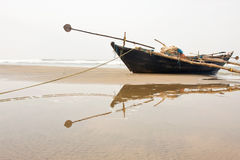 Fisherman boat at the beach Stock Photography