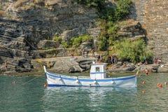Fisherman boat, Cinque Terre, Italy Stock Photo