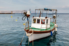 Fisherman Boat Docked at Harbor in Senj Royalty Free Stock Photo