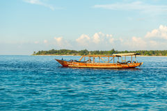 Fisherman boat in the evening Stock Photo