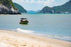 Fisherman Boat. At Hua-Hin beach Stock Photography