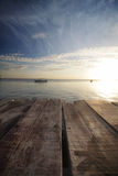 Fisherman boat at Mabul Island Sabah, Malaysia in the evening Stock Photography