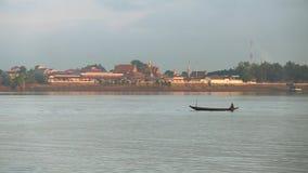 Fisherman, boat, mekong, cambodia, southeast asia Stock Photo