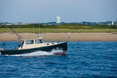 Fisherman boat near Provincetown Royalty Free Stock Images