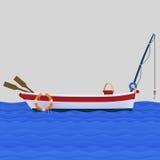 Fisherman boat in the ocean.  Stock Images
