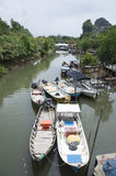 Fisherman Boat Royalty Free Stock Photography