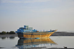FISHERMAN BOAT IN QESHM Royalty Free Stock Image