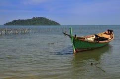 Fisherman boat at Rabbit Island Royalty Free Stock Images