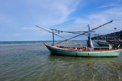 Fisherman Boat in the sea Stock Image