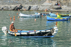 Fisherman boats, Cinque Terre, Italy Royalty Free Stock Photography