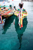 ฺFisherman Boats on a clear water. Traveling/Fisherman Boat on a clear water Royalty Free Stock Photography