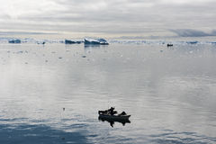 Fisherman boats Greenland Royalty Free Stock Photos