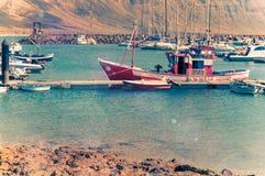 Fisherman boats at La Graciosa Stock Photography