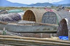 Fisherman boats, Lang Co, Vietnam Stock Photo