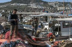 Fisherman in Bodrum, Turkey Stock Images