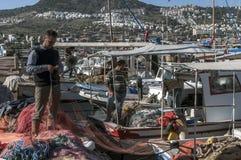 Fisherman in Bodrum, Turkey stock images