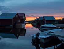 Fisherman cabins Royalty Free Stock Photography