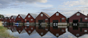 Fisherman cabins Royalty Free Stock Photos