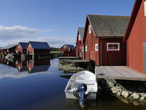 Fisherman cabins Royalty Free Stock Images
