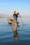 Fisherman catches fish for food Royalty Free Stock Photography