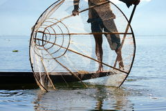 Free Fisherman Catches Fish For Food Royalty Free Stock Photography - 35860587