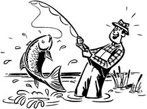 Fisherman Catching The Big One Royalty Free Stock Photos