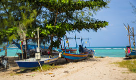 Fisherman coast Stock Photography