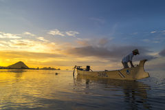 Fisherman early morning Royalty Free Stock Photos