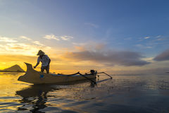 Fisherman early morning Royalty Free Stock Photography